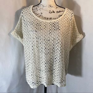 H&M Capped Sleeve Knitted Blouse S